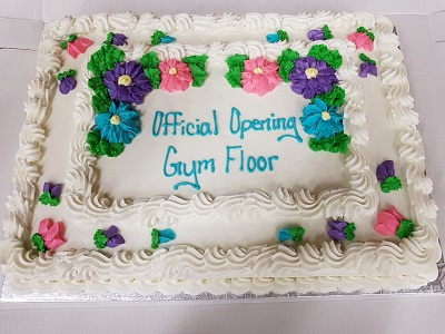 Cake for the official gym opening
